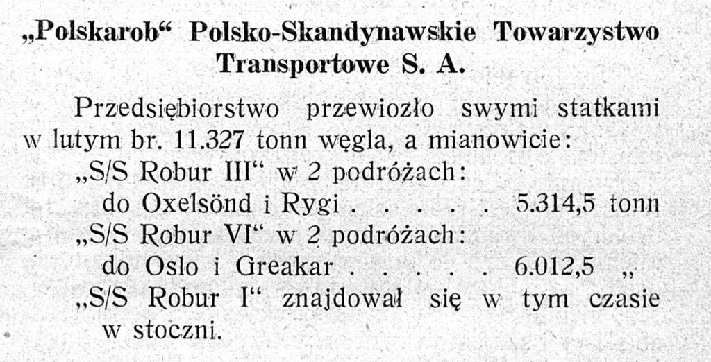 Polskarob Polsko-Skandynawskie Towarzystwo Transportowe S .A.
