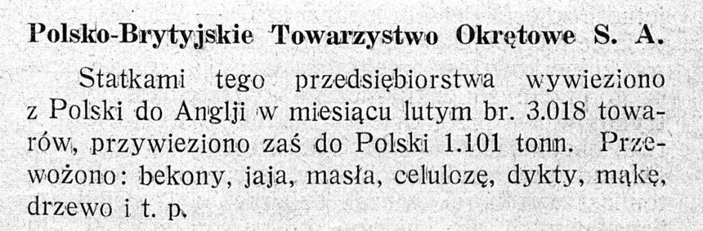 Polsko-Brytyjskie Towarzystwo Okrętowe S. A.