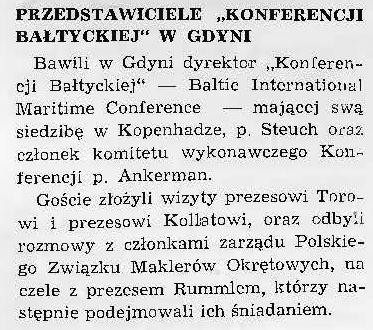 Przedstawiciele Konferencji Bałtyckiej w Gdyni