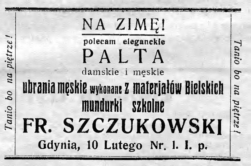 Fr. Szczukowski Palta, ubrania męskie, mundurki szkolne