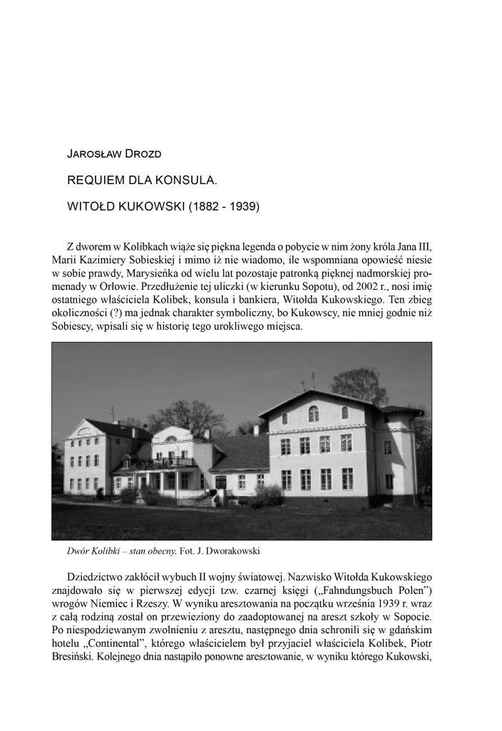 Requiem dla konsula Witolda Kukowski (1882-1939)