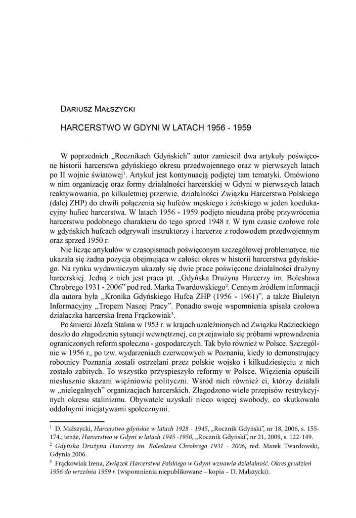 Harcerstwo w Gdyni w latach 1956-1959