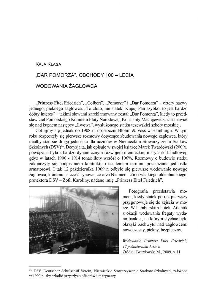 """""""Dar Pomorza"""" obchody 100-lecia wodowania żaglowca"""