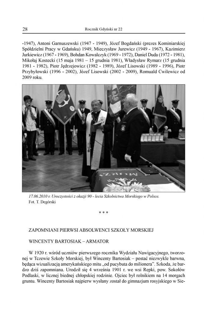 Zapomniani pierwsi absolwenci szkoły morskiej Wincenty Bartosiak - armator