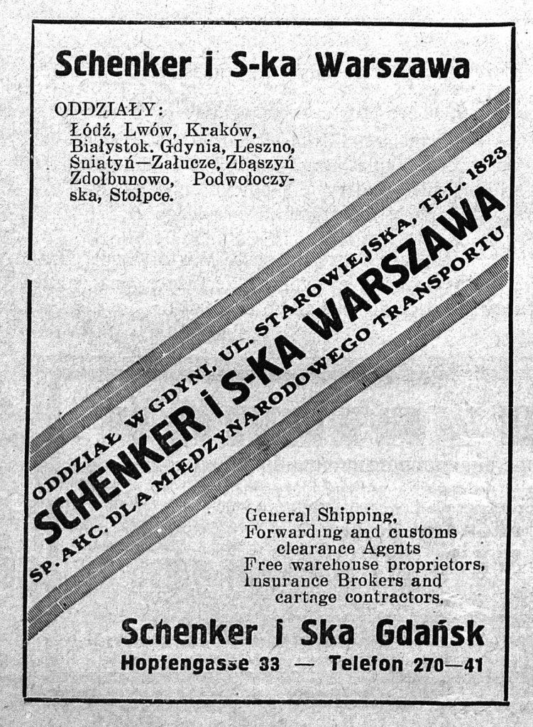 Schenker i S-ka Warszawa. Oddział Gdynia