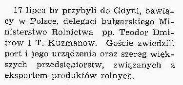 [Wizyta delegatów bułgarskiego Ministerstwa Rolnictwa]