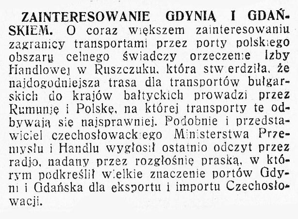 Zainteresowanie Gdynią i Gdańskiem