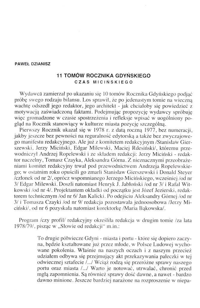 11 tomów Rocznika Gdyńskiego: czas Micińskiego