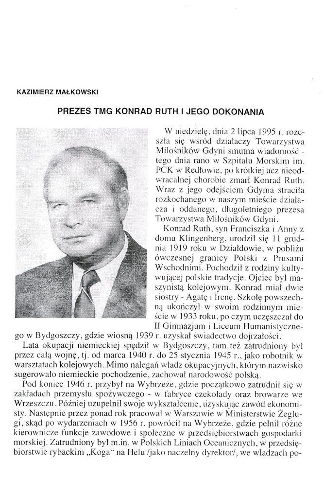 Prezes TMG Konrad Ruth i jego dokonania