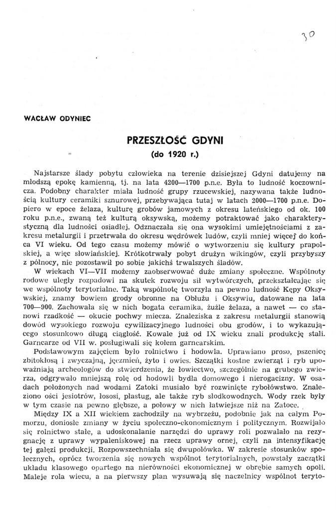 Przeszłość Gdyni (do 1920 r.)