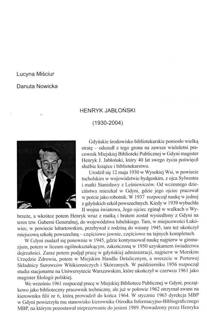 Henryk Jabłoński (1930-2004)