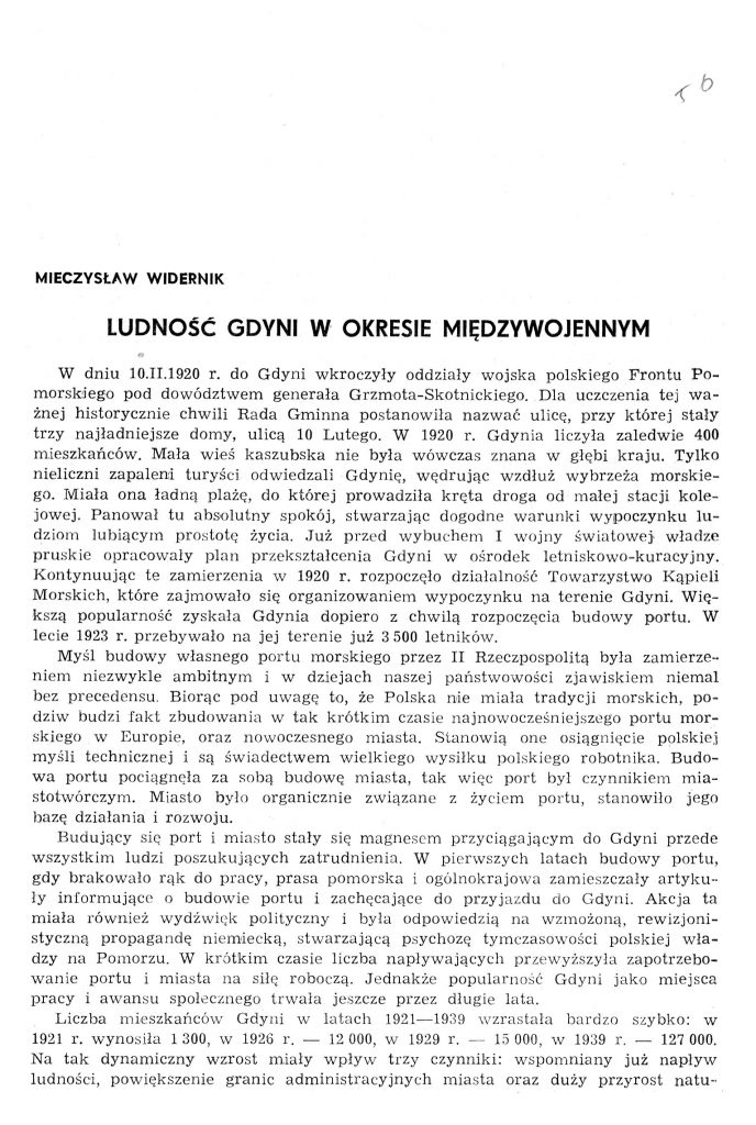 Ludność Gdyni w okresie międzywojennym