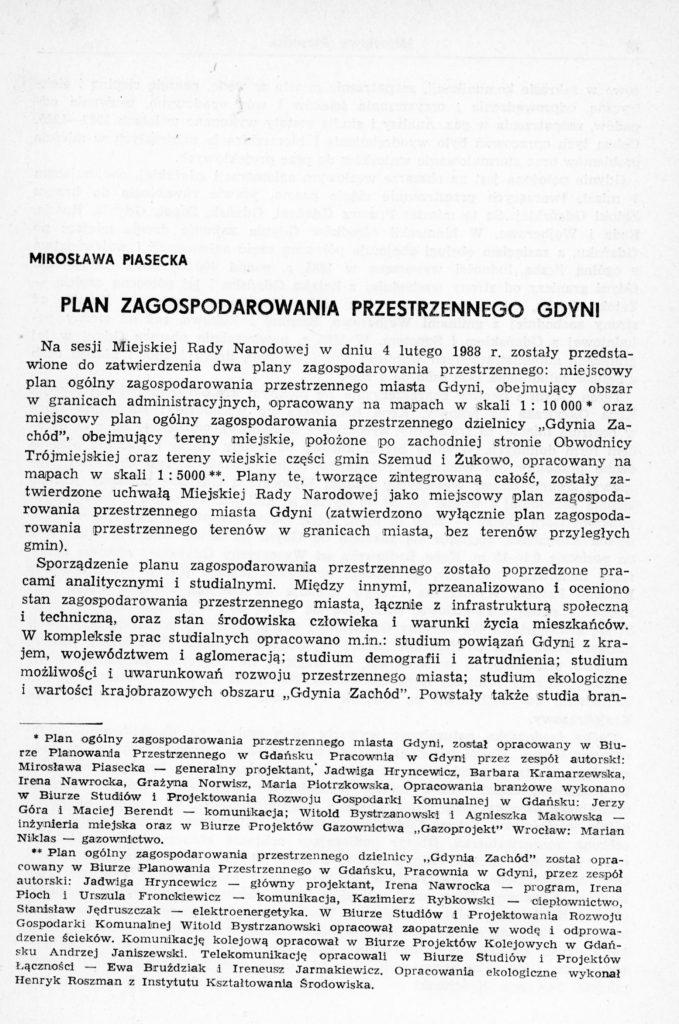 Plan zagospodarowania przestrzennego Gdyni