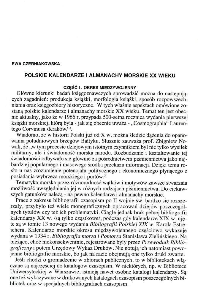 Polskie kalendarze i almanachy morskie XX wieku