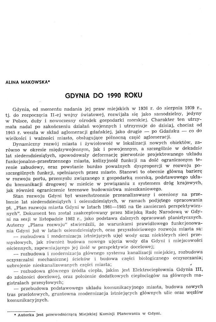 Gdynia do 1990 roku