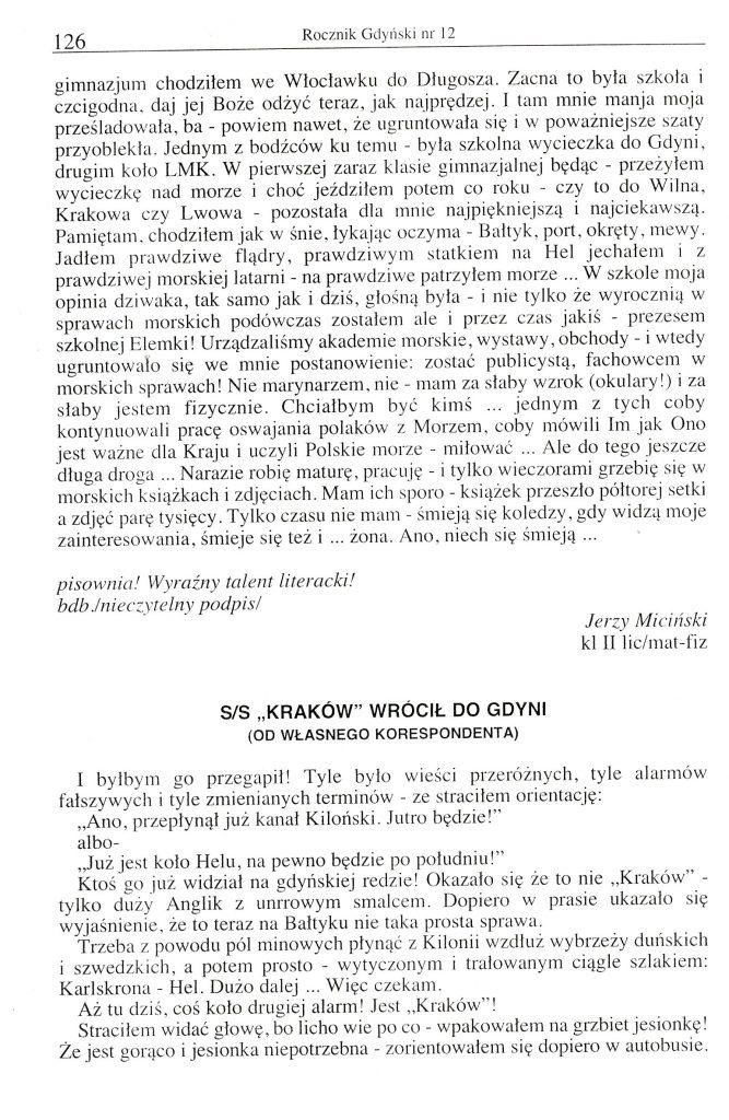"""S/S """"Kraków"""" wrócił do Gdyni (od własnego korespondenta)"""