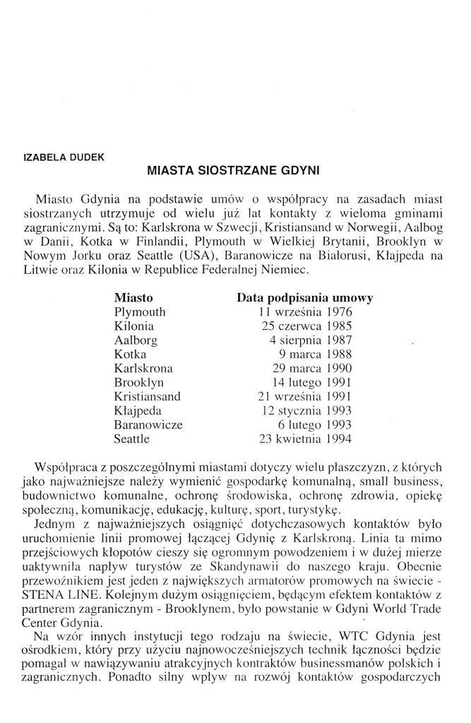 Miasta siostrzane Gdyni