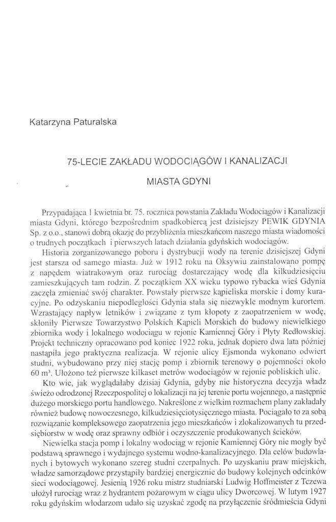 75-lecie Zakładu Wodociągów i Kanalizacji Miasta Gdyni