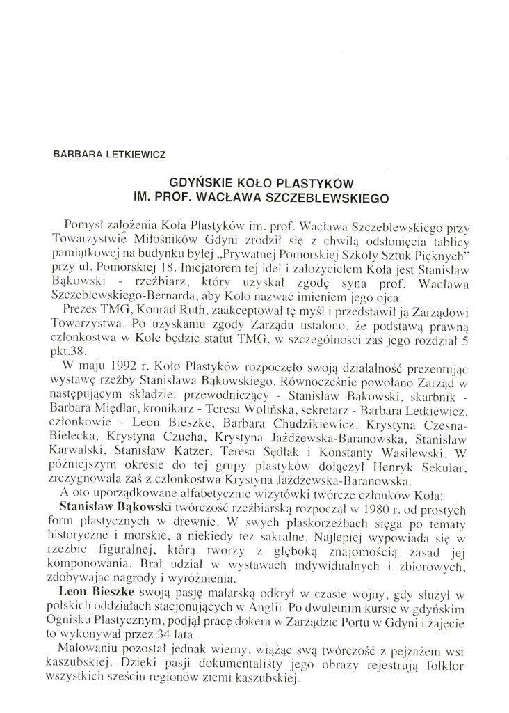 Gdyńskie Koło Plastyków im. prof. Wacława Szczeblewskiego