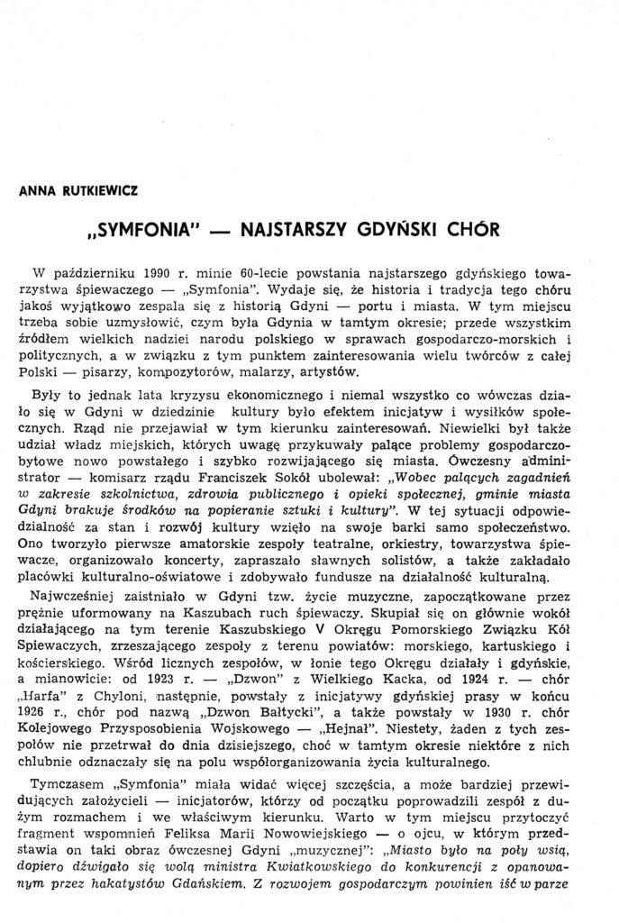 """""""Symfonia"""" - najstarszy gdyński klub"""