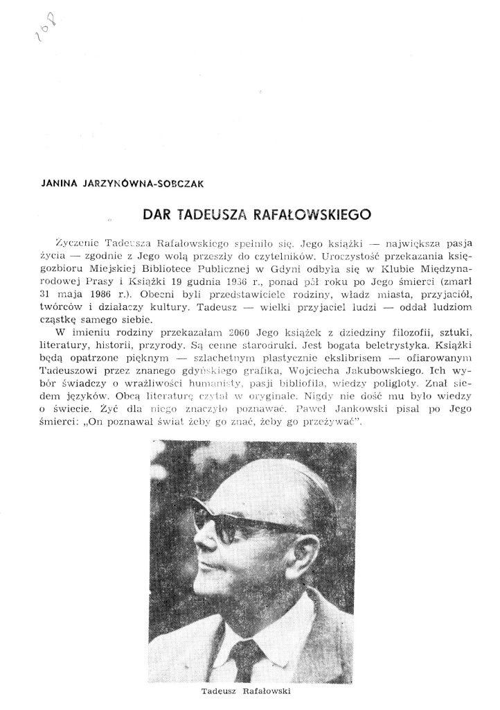 Dar Tadeusza Rafałowskiego