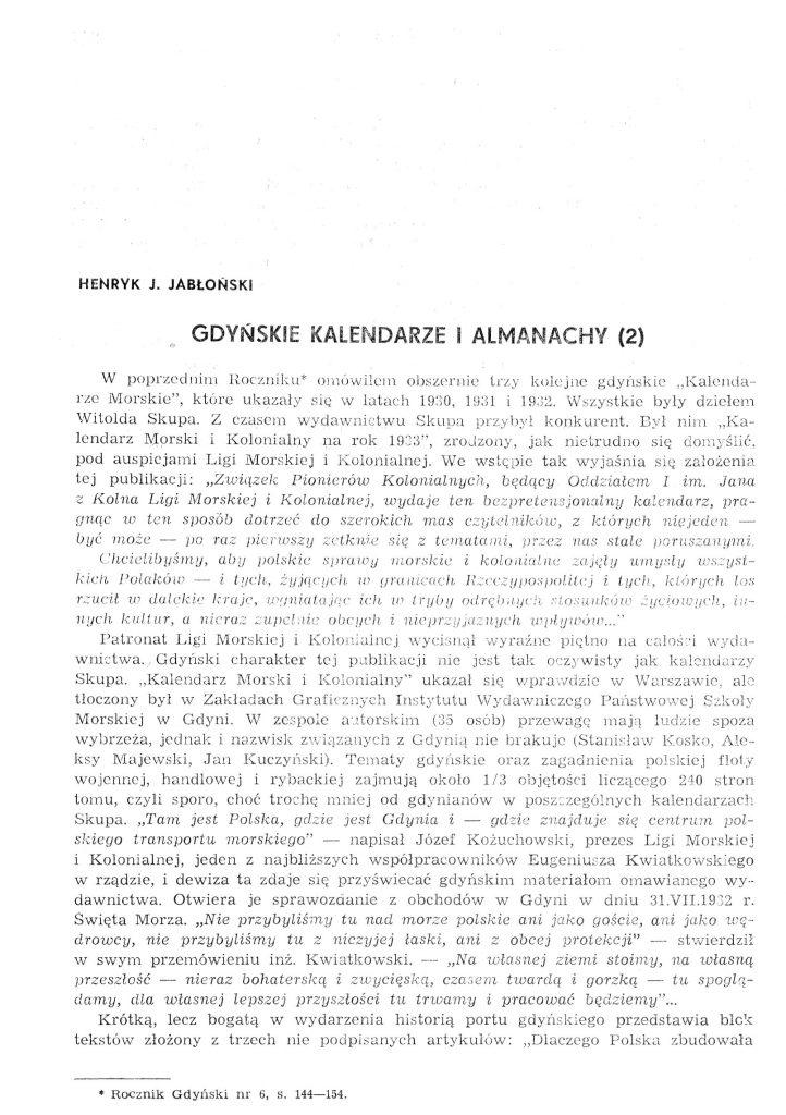 Gdyńskie kalendarze i almanachy (2)