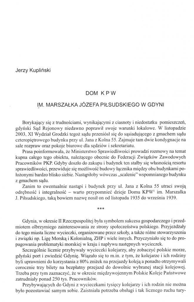 Dom K P W im. Marszałka Józefa Piłsudskiego w Gdyni