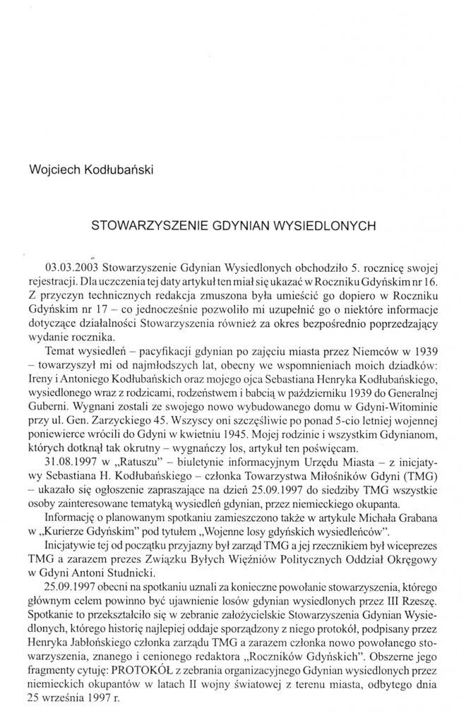 Stowarzyszenie Gdynian Wysiedlonych