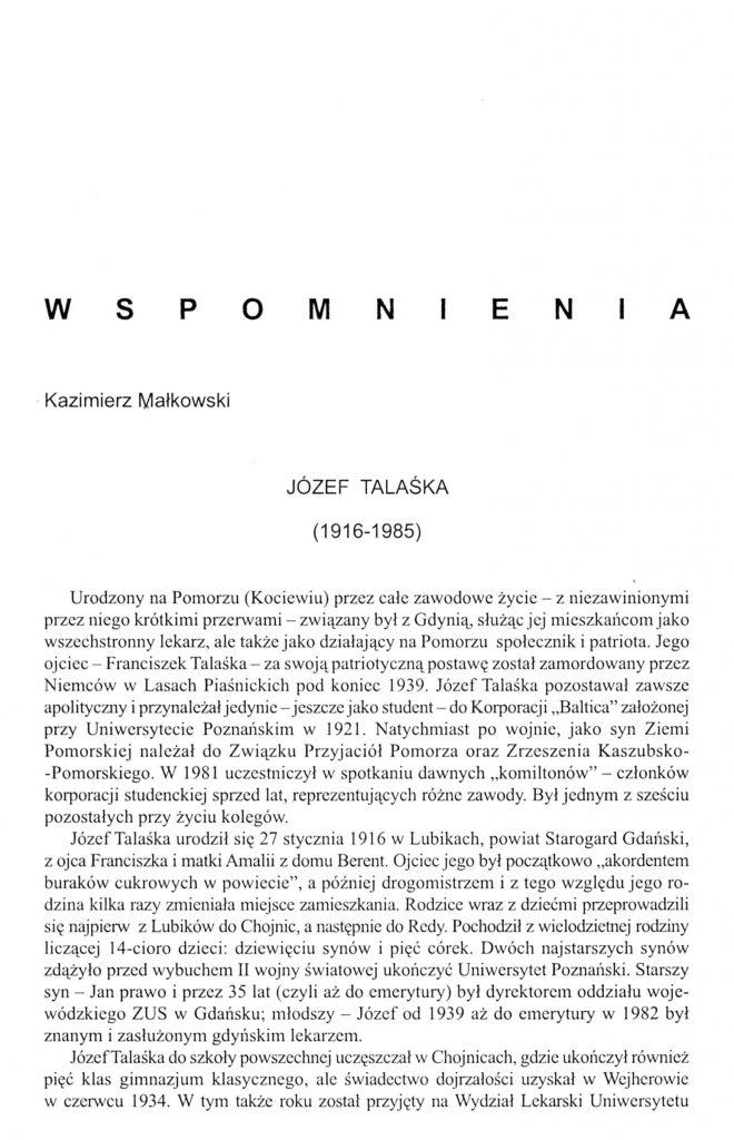 Józef Talaśka (1916-1985)