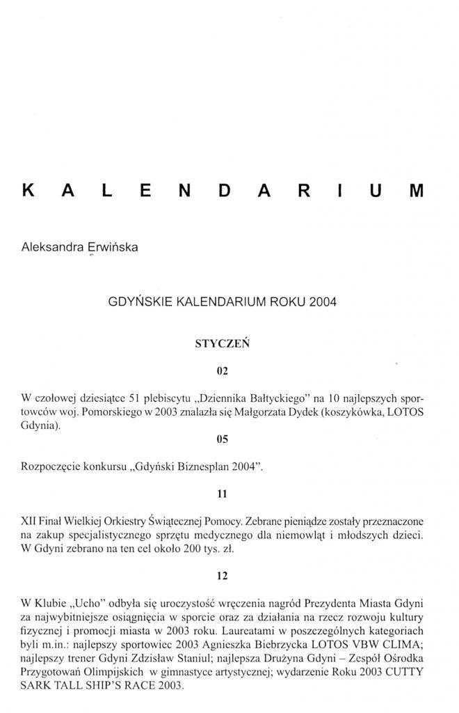 Gdyńskie kalendarium roku 2004