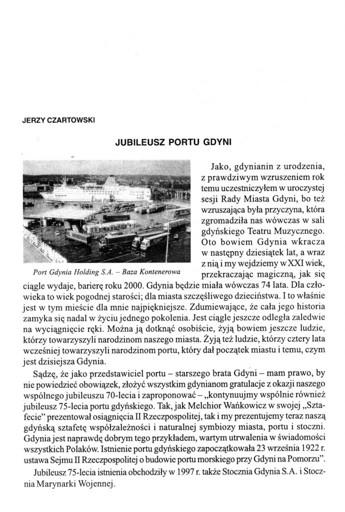 Jubileusz portu Gdyni