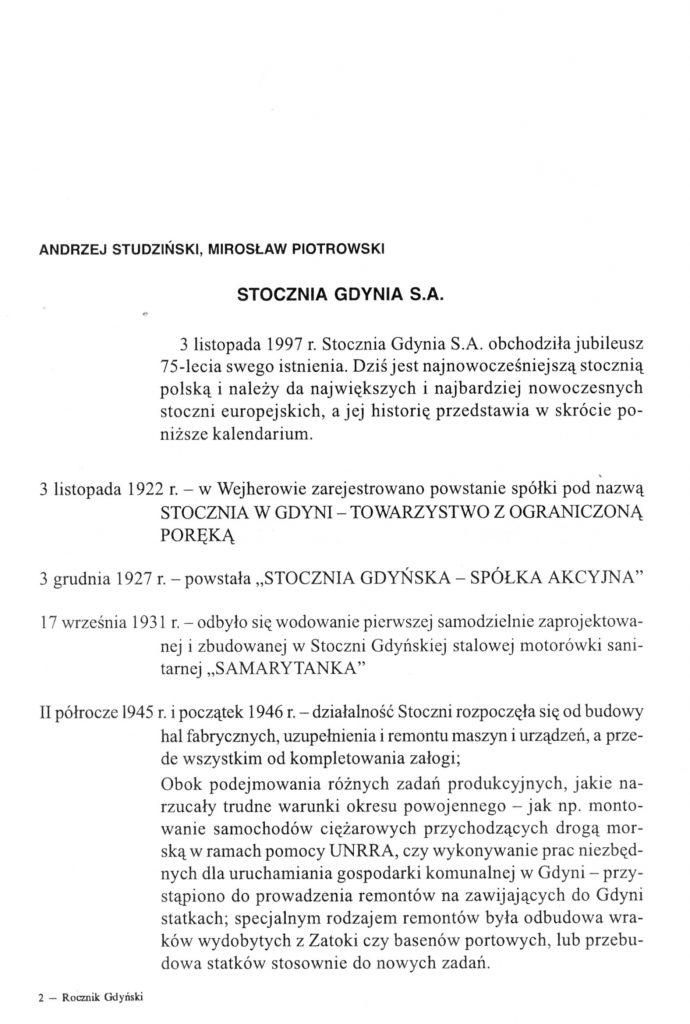 Stocznia Gdynia S.A.