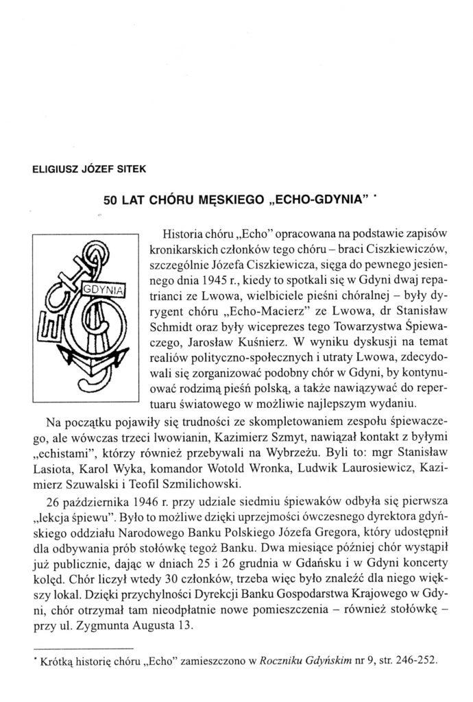 """50 lat Chóru Męskiego """"Echo Gdynia"""""""