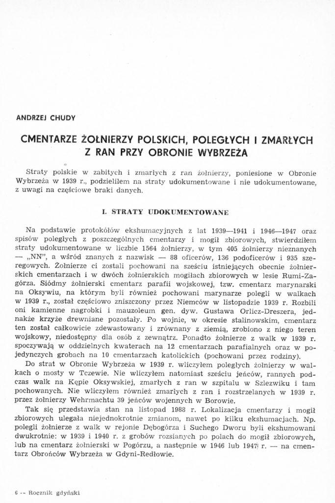 Cmentarze żołnierzy polskich, poległych i zmarłych z ran przy obronie Wybrzeża