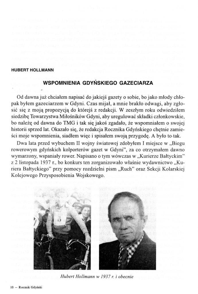 Wspomnienia gdyńskiego gazeciarza