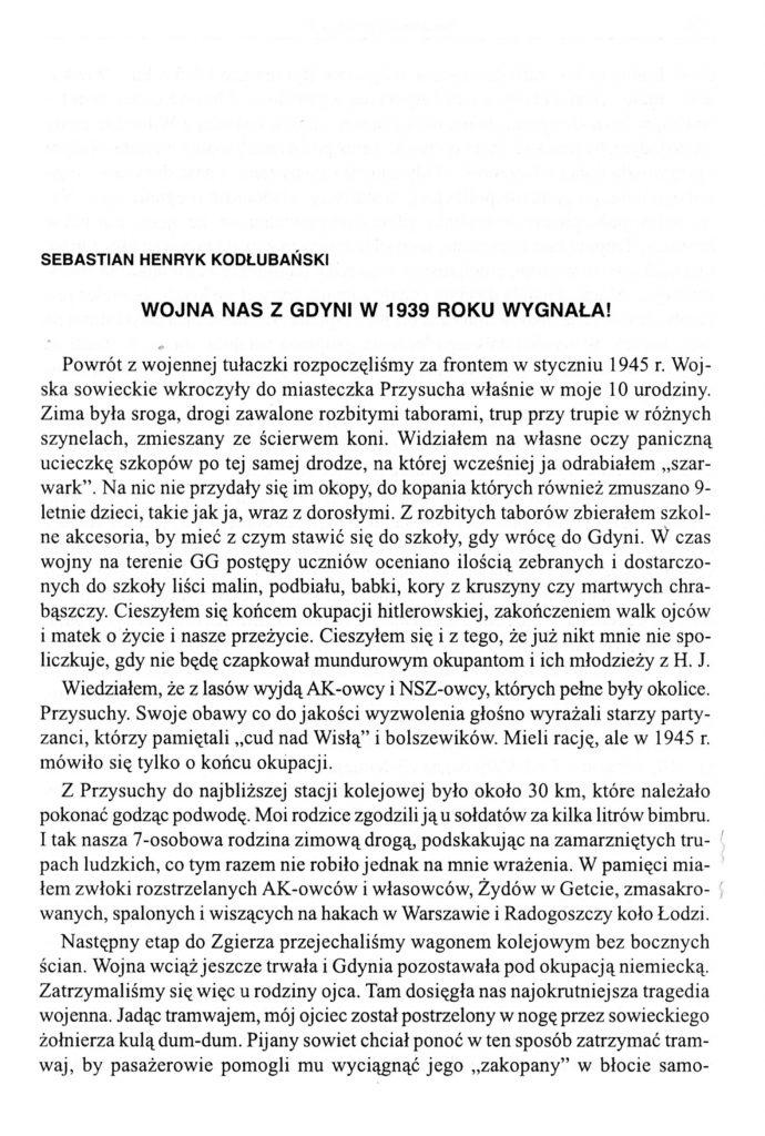 Wojna nas z Gdyni w 1939 roku wygnała