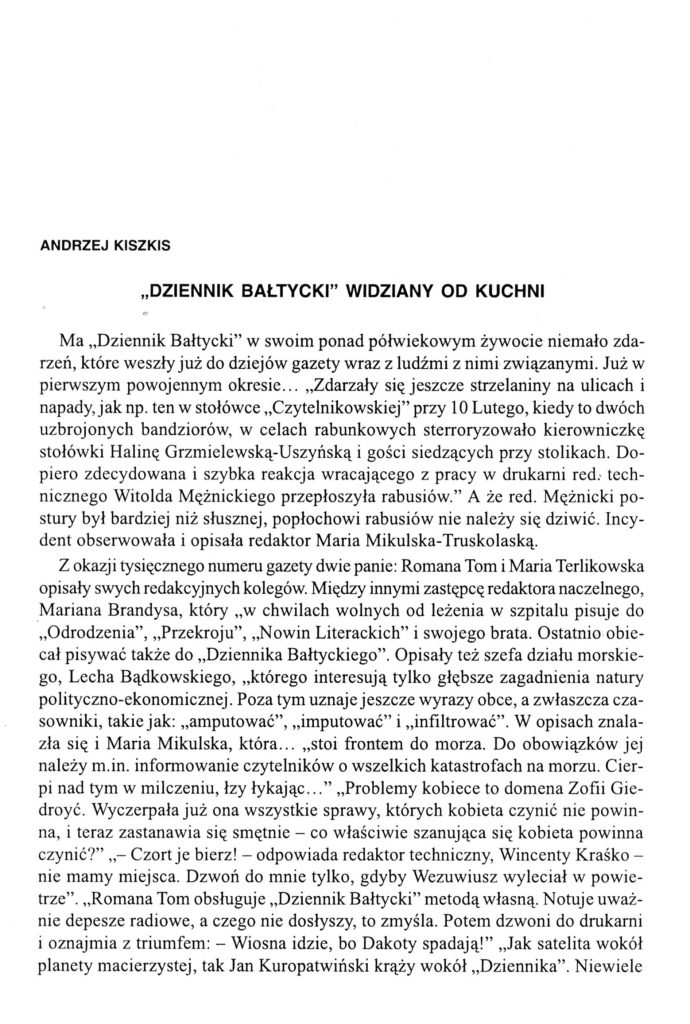 """""""Dziennik Bałtycki"""" widizany od kulis"""
