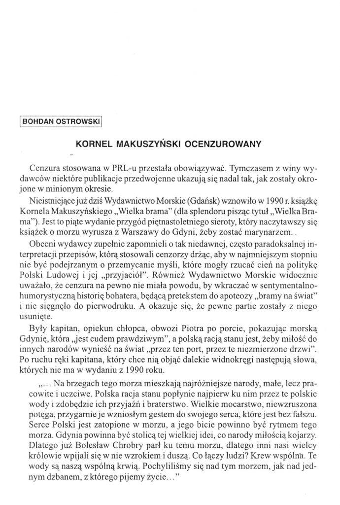 Kornel Makuszyński ocenzurowany