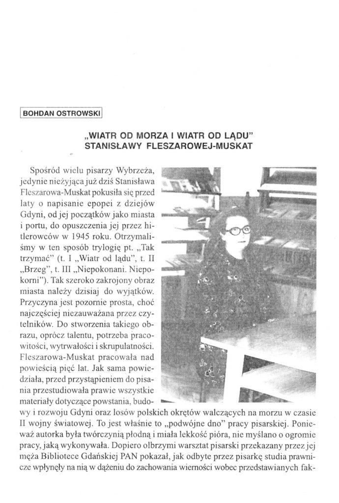 """""""Wiatr od morza i wiatr od lądu"""" Stanisławy Fleszarowej-Muskat"""