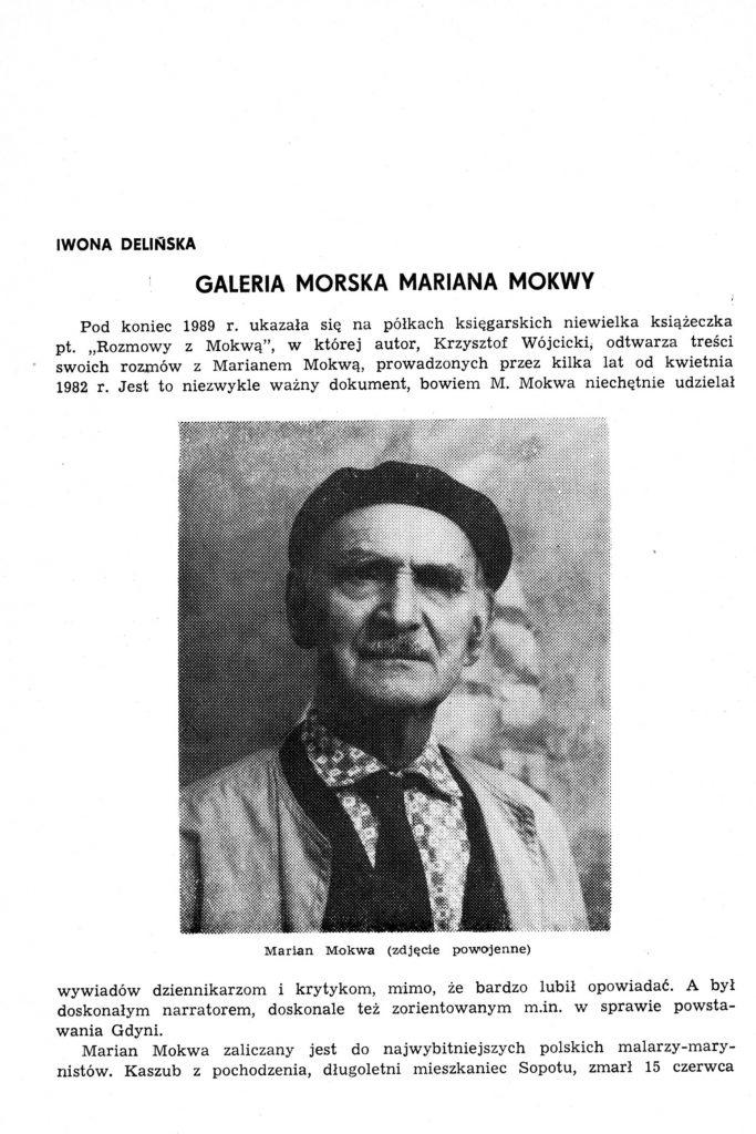 Galeria Morska Mariana Mokwy