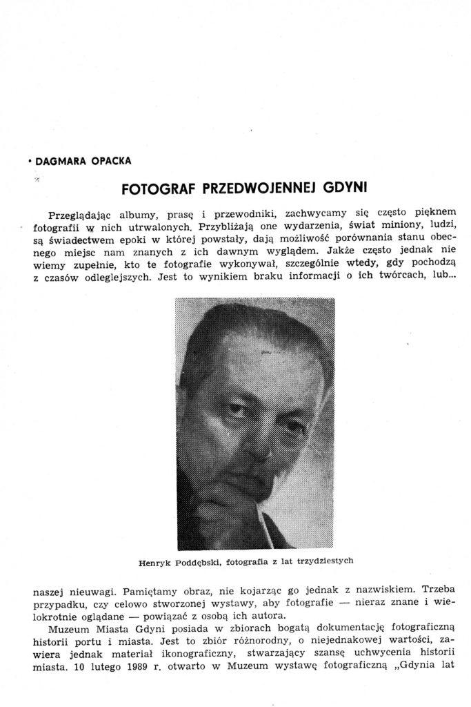 Fotograf przedwojennej Gdyni