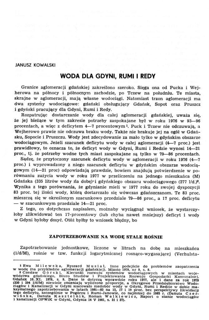 Woda dla Gdyni, Rumi i Redy