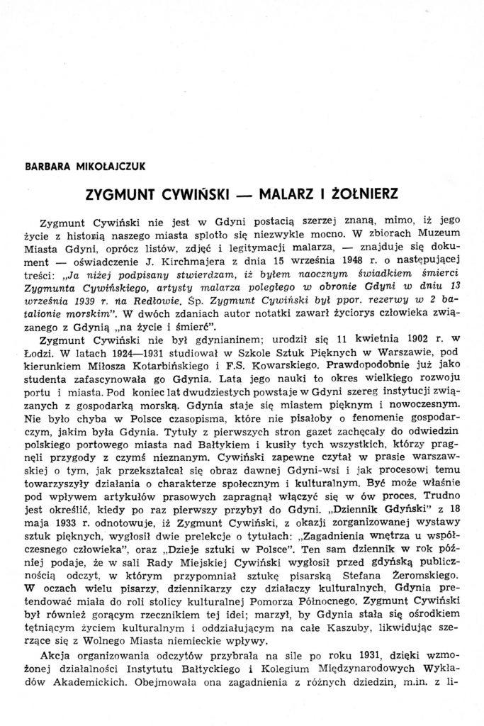 Zygmunt Cywiński - malarz i żołnierz