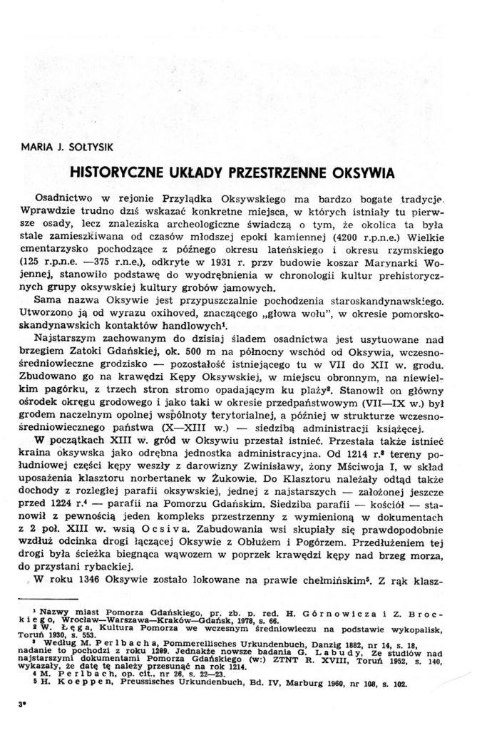 Historyczne układy przestrzenne Oksywia