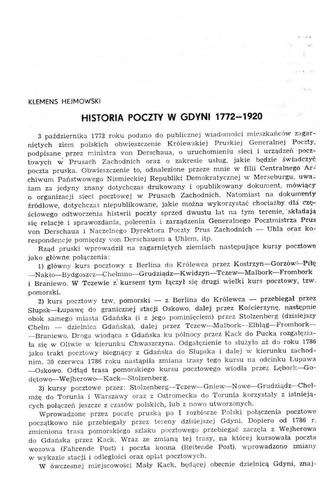 Historia poczty w Gdyni
