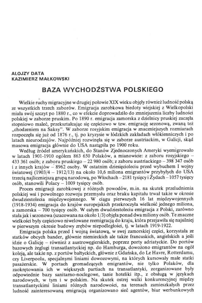 Baza wychodźstwa Polskiego
