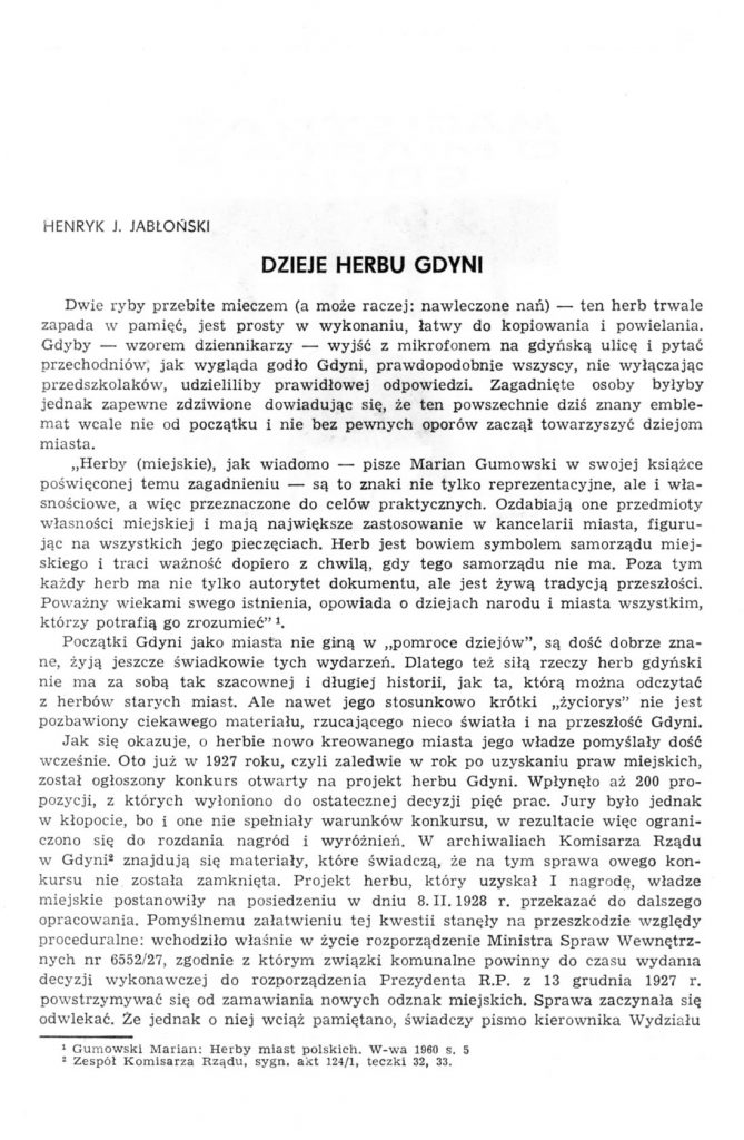 Dzieje herbu Gdyni