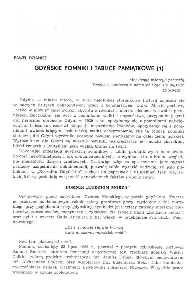 Gdyńskie pomniki i tablice pamiątkowe (1)