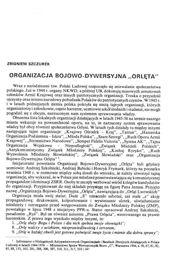 """Organizacja bojowo-dywersyjna """"Orlęta"""""""