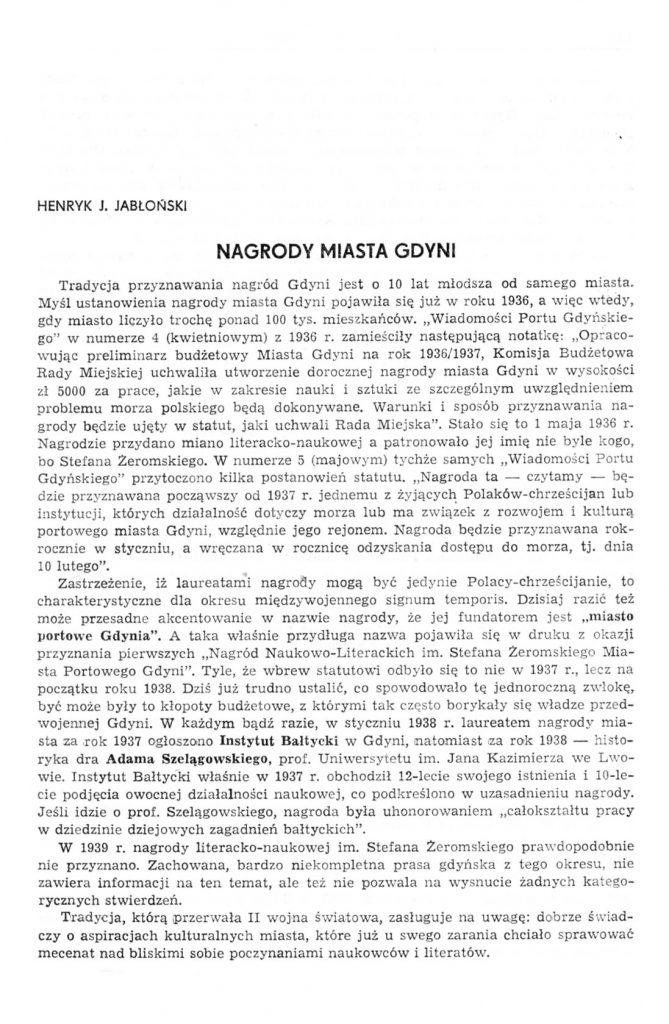 Nagrody miasta Gdyni